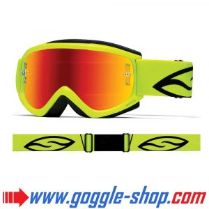 SMITH FUEL V1 MAX MIRROR MOTOCROSS MX GOGGLES ACID with RED MIRROR LENS
