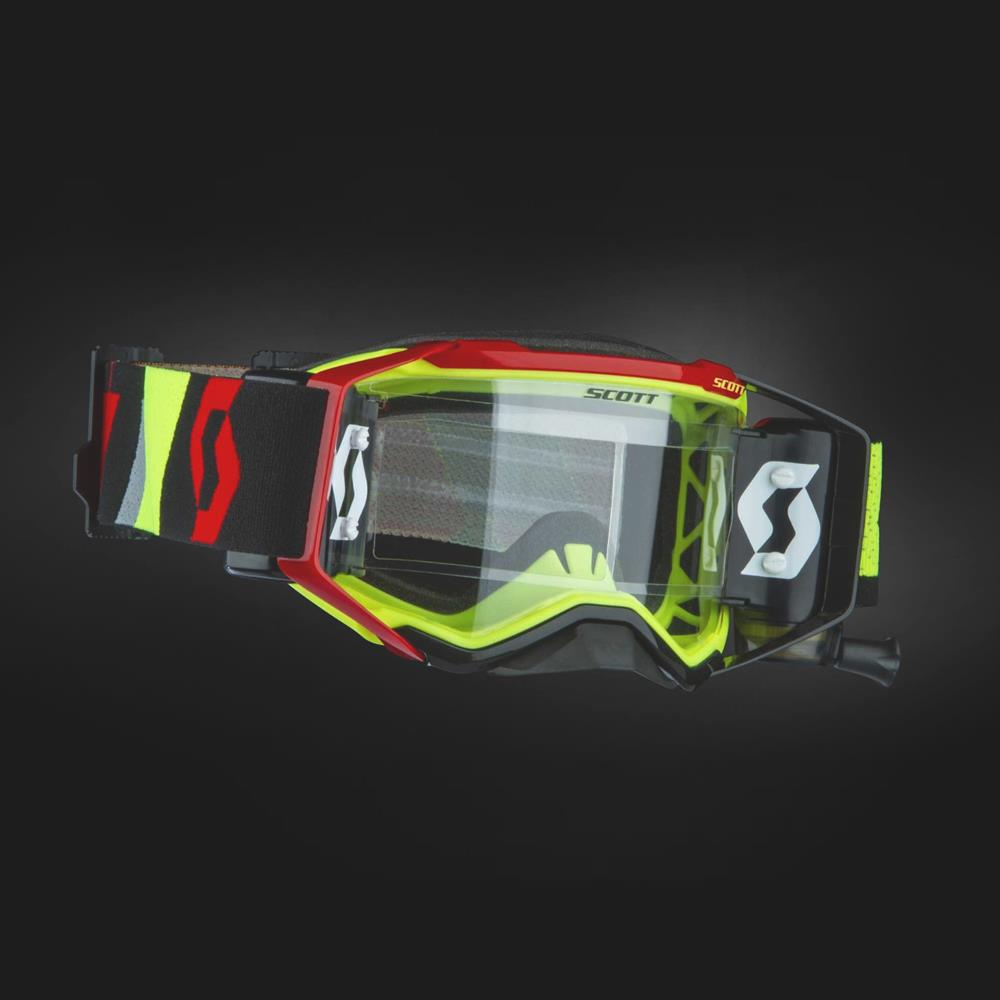 76eb326ff52 2019 SCOTT PROSPECT WFS ROLL-OFF MOTOCROSS GOGGLES - YELLOW   RED ...