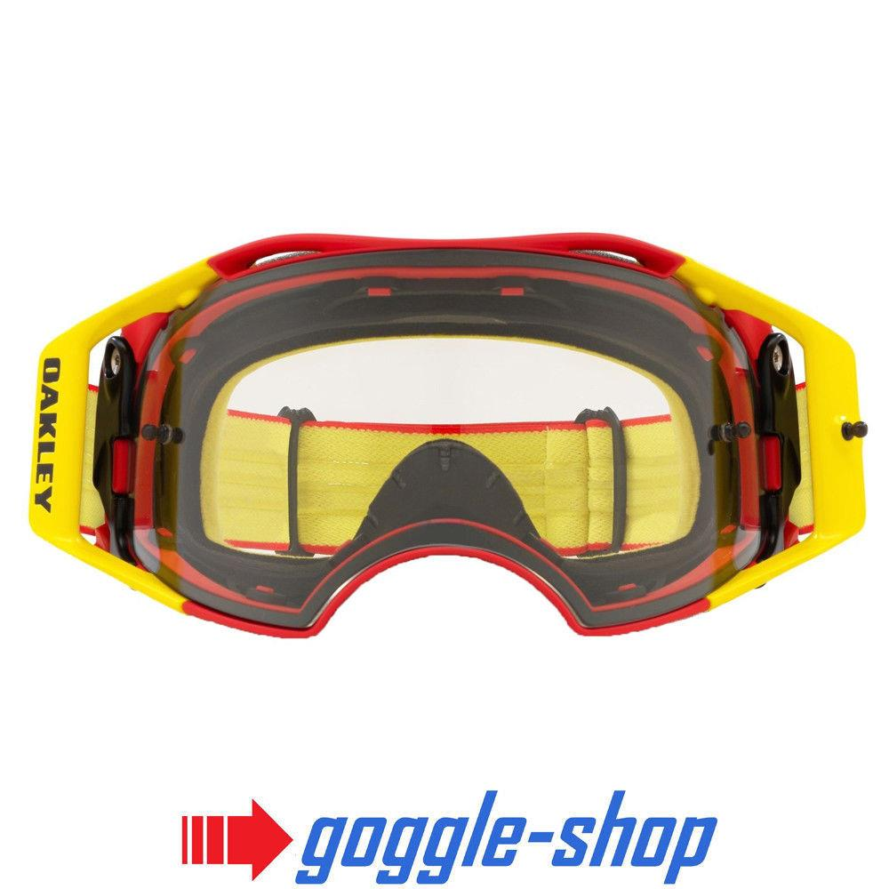 Oakley Airbrake Motocross Mx Goggles Red Yellow Clear