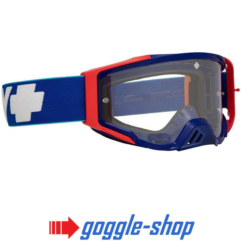 2019 SPY FOUNDATION MOTOCROSS MX GOGGLES - REVOLUTION BLUE RED / CLEAR