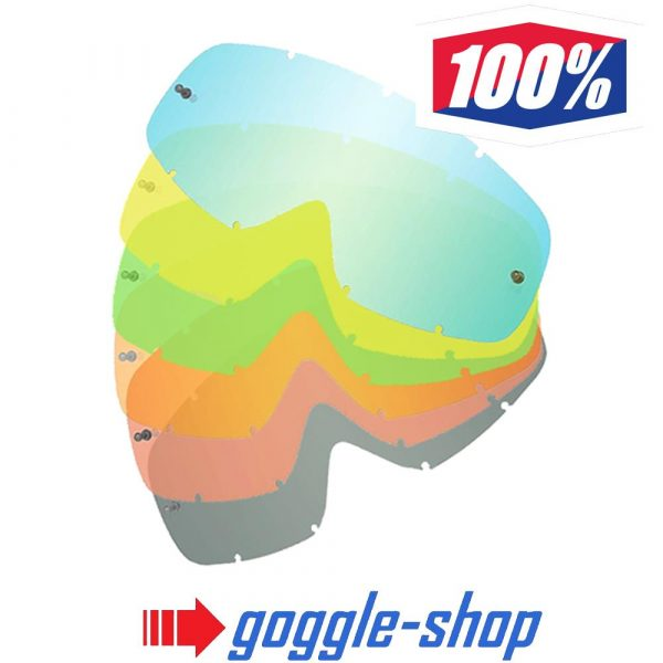 GOGGLE-SHOP MOTOCROSS GOGGLE TEAR-OFF LENS to fit 100% GOGGLES