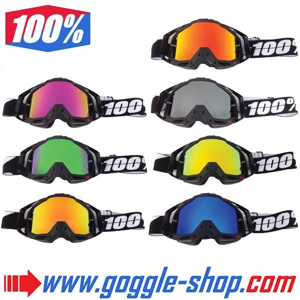 Goggle Shop Mirror Lens To Fit 100 Motocross Goggles Goggle Shop
