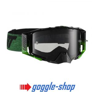 LEATT VELOCITY 6.5 MOTOCROSS MX GOGGLES - BLACK / GREEN SMOKE LENS