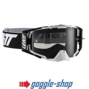 LEATT VELOCITY 6.5 MOTOCROSS MX GOGGLES - BLACK / WHITE SMOKE LENS