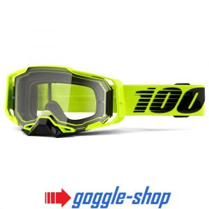 100% PERCENT ARMEGA MOTOCROSS GOGGLES – NUCLEAR CITRUS / ULTRA HD GOLD MIRROR