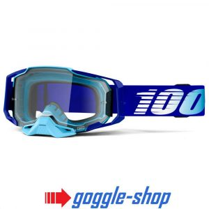 100% PERCENT ARMEGA MOTOCROSS GOGGLES – ROYAL / ULTRA HD BLUE MIRROR LENS