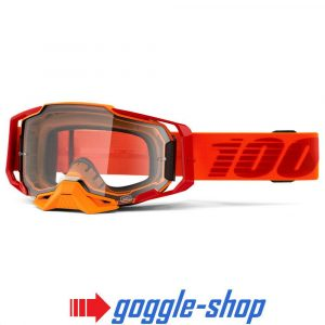 100% PERCENT ARMEGA MOTOCROSS GOGGLES – LIKIT / ULTRA HD TRUE GOLD MIRROR LENS