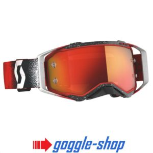 2020 Scott Prospect Motocross Goggles - White / Red / Orange Chrome Works