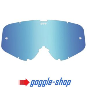 SPY WOOT MOTOCROSS MX GOGGLE GENUINE REPLACEMENT LIGHT BLUE SPECTRA MIRROR LENS