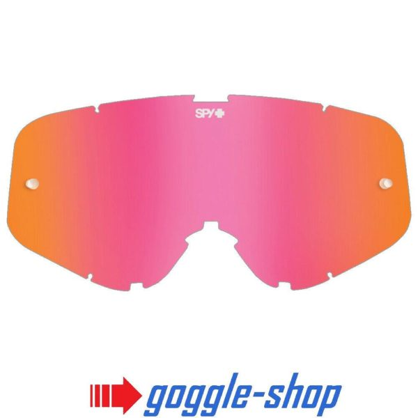 SPY WOOT MOTOCROSS MX GOGGLE GENUINE REPLACEMENT PINK SPECTRA MIRROR LENS