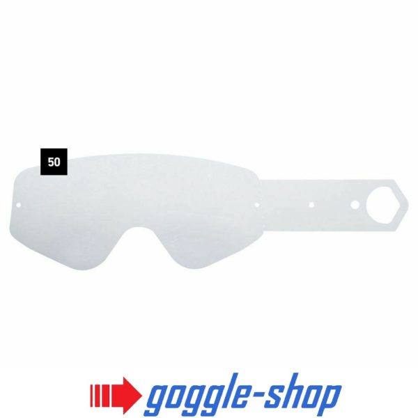 SPY TEAR OFFS for WOOT MOTOCROSS MX GOGGLES GENUINE - 50 PACK