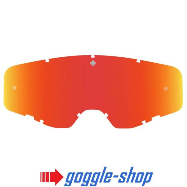 SPY FOUNDATION MOTOCROSS MX GOGGLE GENUINE REPLACEMENT RED SPECTRA MIRROR LENS