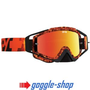2019 SPY OMEN MOTOCROSS MX BIKE GOGGLES - FLARE /SMOKE RED SPECTRA MIRROR LENS