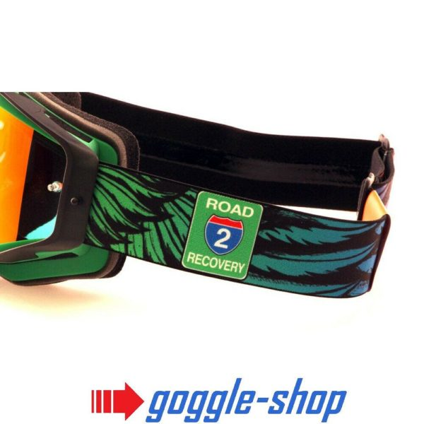 2019 SPY OMEN MOTOCROSS BIKE GOGGLES - ROAD 2 RECOVERY GREEN / RED MIRROR LENS