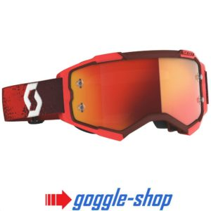 2020 SCOTT FURY MOTOCROSS MX GOGGLES RED / ORANGE CHROME WORKS LENS
