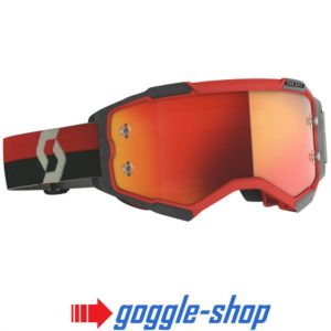 2020 SCOTT FURY MOTOCROSS MX GOGGLES RED / BLACK / ORANGE CHROME WORKS LENS