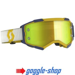 2020 SCOTT FURY MOTOCROSS MX GOGGLES YELLOW / BLUE / YELLOW CHROME WORKS LENS