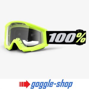 100% PERCENT KIDS STRATA MINI MX MOTOCROSS GOGGLES childs bike - YELLOW