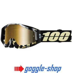 100% PERCENT RACECRAFT MX MOTOCROSS GOGGLES ERGOFLASH CLEAR / GOLD MIRROR NEW