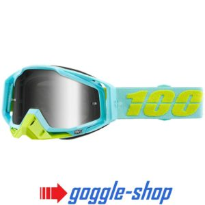 100% PERCENT RACECRAFT MX MOTOCROSS GOGGLES PINACLES BLUE CLEAR / MIRROR NEW