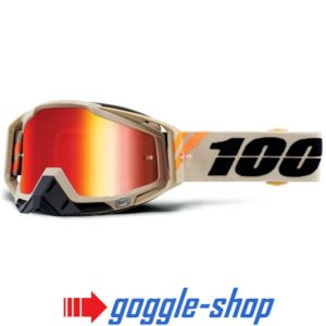 100% PERCENT RACECRAFT MX MOTOCROSS GOGGLES POLIET ORANGE CLEAR / MIRROR NEW