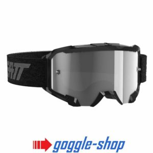 LEATT VELOCITY 4.5 MOTOCROSS MX GOGGLES - BLACK / LIGHT GREY LENS