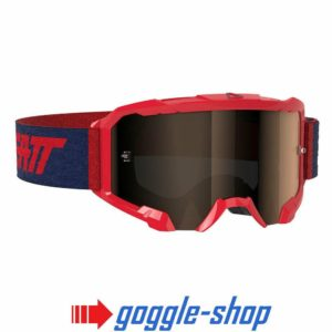 LEATT VELOCITY 4.5 MOTOCROSS MX GOGGLES - IRIZ RED / PLATINUM LENS