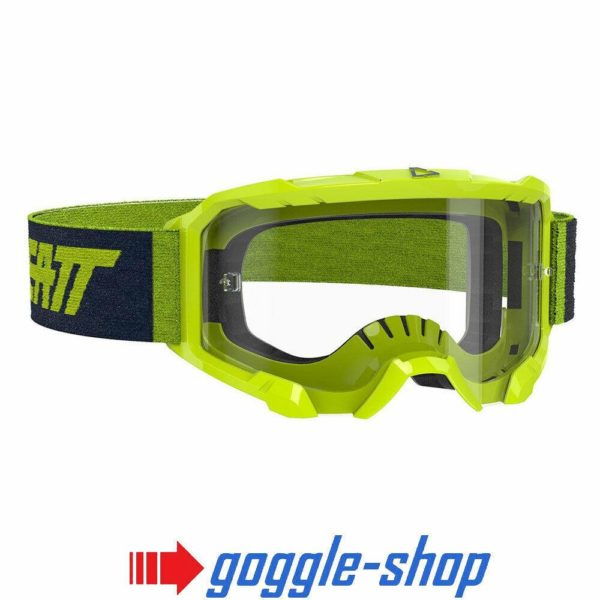 LEATT VELOCITY 4.5 MOTOCROSS MX GOGGLES - NEON LIME / CLEAR LENS