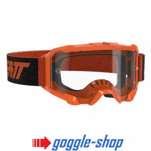 LEATT VELOCITY 4.5 MOTOCROSS MX GOGGLES - NEON ORANGE / CLEAR LENS
