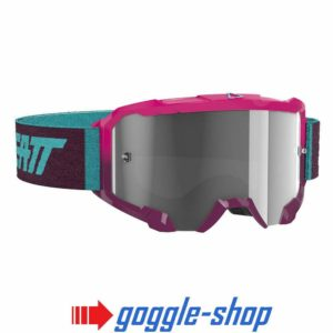 LEATT VELOCITY 4.5 MOTOCROSS MX GOGGLES - NEON PINK / LIGHT GREY LENS
