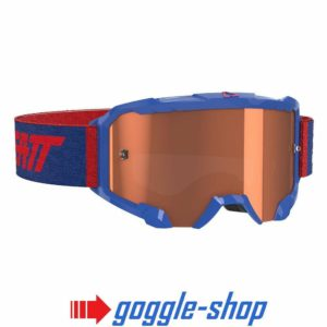 LEATT VELOCITY 4.5 MOTOCROSS MX GOGGLES - ROYAL BLUE / ROSE LENS
