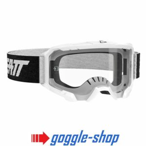 LEATT VELOCITY 4.5 MOTOCROSS MX GOGGLES - WHITE / CLEAR LENS