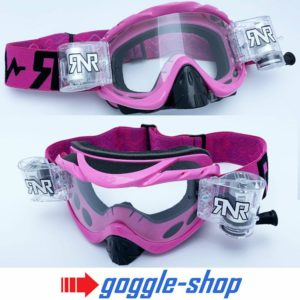 RIP N ROLL MOTOCROSS MX ENDURO BIKE GOGGLES HYBRID RnR NEW - PINK