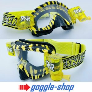 RIP N ROLL MOTOCROSS MX ENDURO GOGGLES HYBRID RnR fully loaded - WILD YELLOW