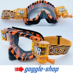 RIP N ROLL MOTOCROSS MX ENDURO GOGGLES HYBRID RnR fully loaded - WILD ORANGE