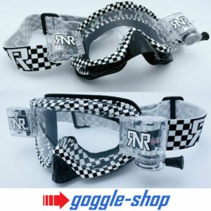 RIP N ROLL MOTOCROSS MX ENDURO GOGGLES HYBRID RnR fully loaded - CHEQUERED FLAG