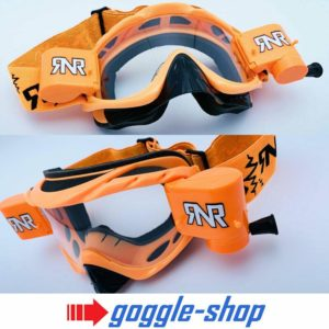 RIP N ROLL MOTOCROSS MX ENDURO GOGGLES HYBRID RnR fully loaded - NEON ORANGE
