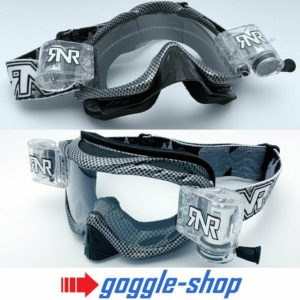 RIP N ROLL MOTOCROSS MX ENDURO BIKE GOGGLES HYBRID RnR NEW - CARBON FIBRE