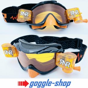 RIP N ROLL MOTOCROSS ENDURO MX BIKE GOGGLES HYBRID RnR - BLACK / ORANGE