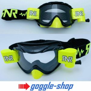 RIP N ROLL MOTOCROSS MX ENDURO GOGGLES HYBRID RnR NEW mx BLACK / NEON YELLOW