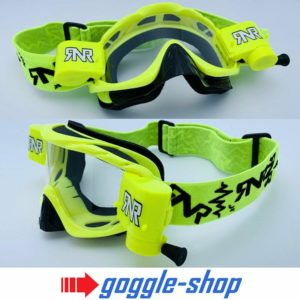 RIP N ROLL MOTOCROSS MX ENDURO GOGGLES HYBRID RnR NEW mx NEON YELLOW