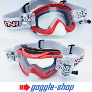 'RIP N ROLL MOTOCROSS ENDURO MX GOGGLES HYBRID RnR BRILLIANT RED new '