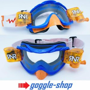 'RIP N ROLL MOTOCROSS ENDURO GOGGLES HYBRID RnR NEW BLUE ORANGE speedway racing '