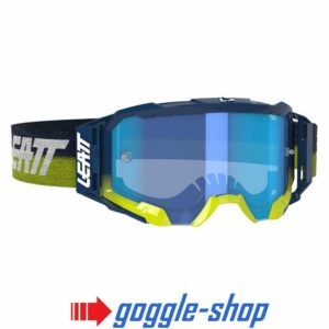 LEATT VELOCITY 5.5 MOTOCROSS MX GOGGLES - INK / BLUE LENS