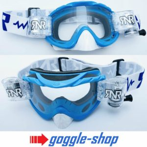 'RIP N ROLL MOTOCROSS MX ENDURO GOGGLES HYBRID RnR NEW mx PACIFIC BLUE'