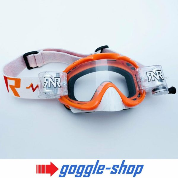 'RIP N ROLL MOTOCROSS ENDURO GOGGLES HYBRID RnR NEW mx SEVILLE ORANGE ktm'