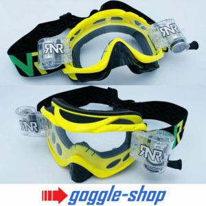 RIP N ROLL MOTOCROSS MX ENDURO GOGGLES HYBRID RnR fully loaded - YELLOW