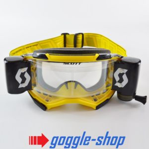 2020 SCOTT FURY WFS ROLL-OFF MOTOCROSS MX ENDURO GOGGLES - YELLOW / BLACK