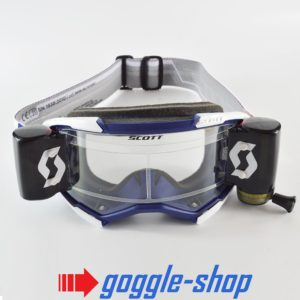 2020 SCOTT FURY WFS ROLL-OFF MOTOCROSS MX ENDURO GOGGLES - BLUE / WHITE