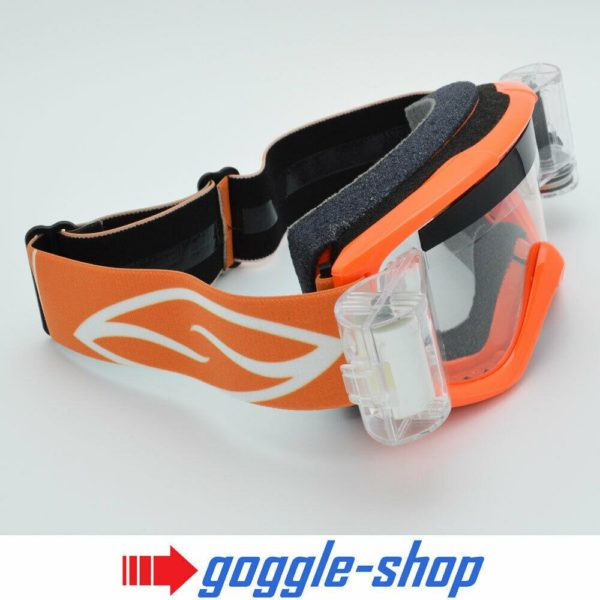 SMITH FUEL V1 MOTOCROSS MX GOGGLES with GOGGLE-SHOP ROLL-OFF SYSTEM - ORANGE